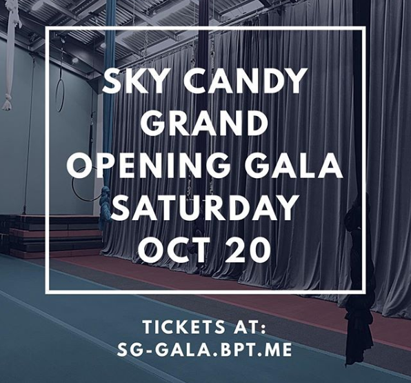 sky candy grand opening gala promo graphic