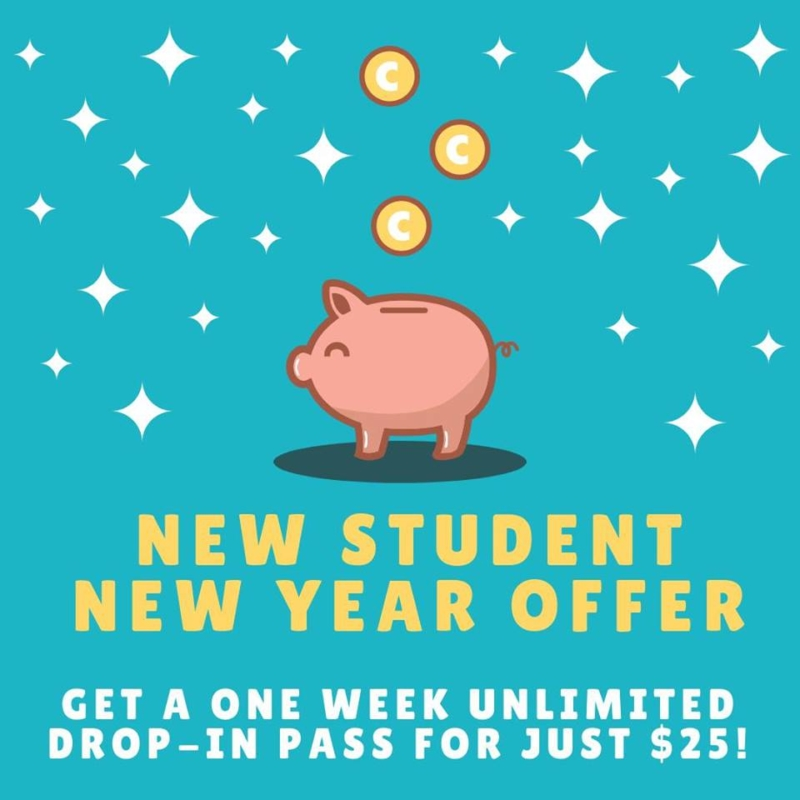 new student new year offer graphic