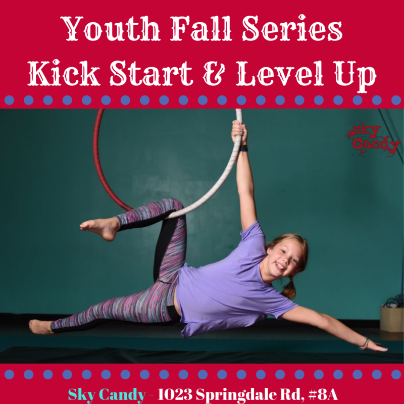 youth fall series kick start & level up marketing graphic