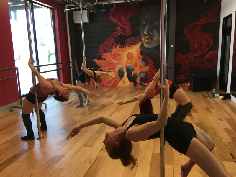 pole flow class perform the same move on individual poles
