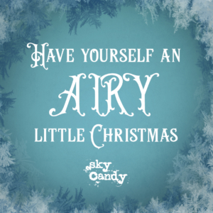 winter holiday gift card image - airy lil christmas