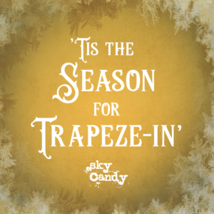 winter holiday gift card image - trapeze
