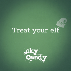 winter holiday gift card image - treat your elf